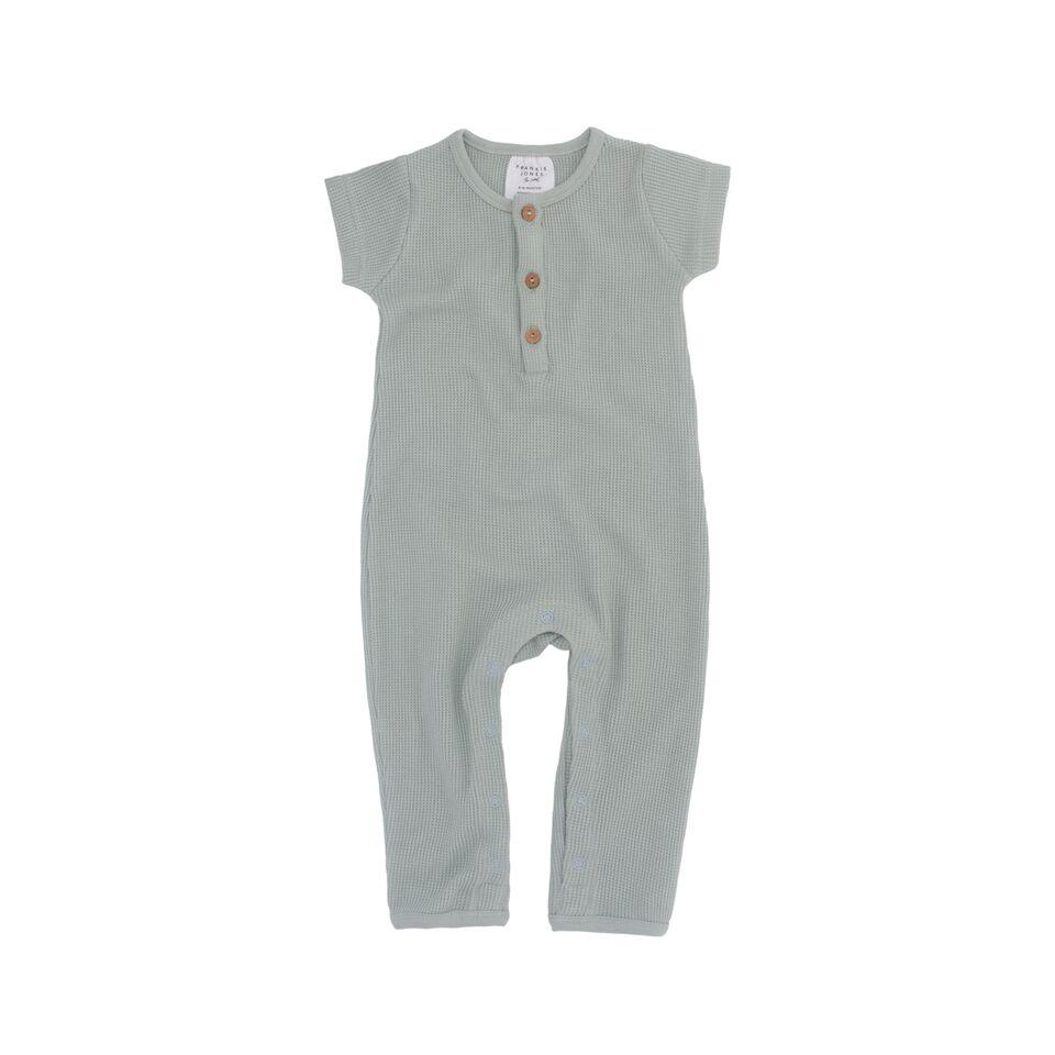 Frankie Jones The Label Phoenix Waffle Romper- Duck Egg Blue