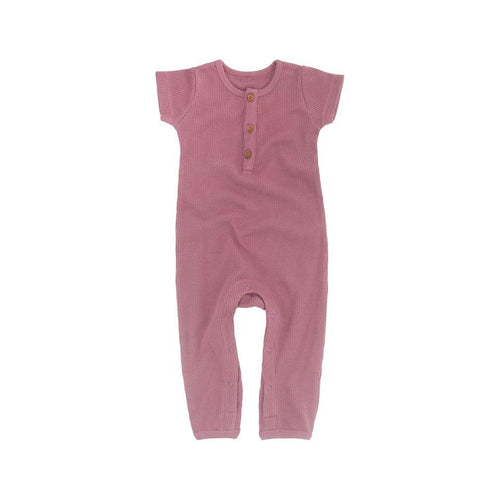 Frankie Jones The Label Phoenix Waffle Romper- Rose Pink