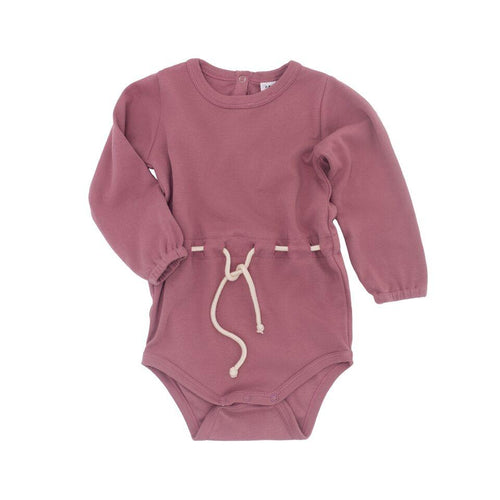 Frankie Jones The Label Valentina Rope Waist Onesie- Rose Pink