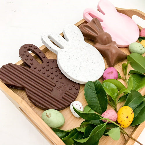 ONE.CHEW.THREE Easter Edition CHOCOLATE BUNNY Silicone Teething Disc