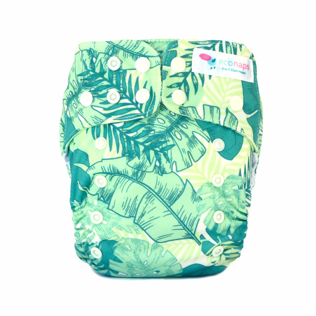 EcoNaps Tropical Palms Cloth Nappy
