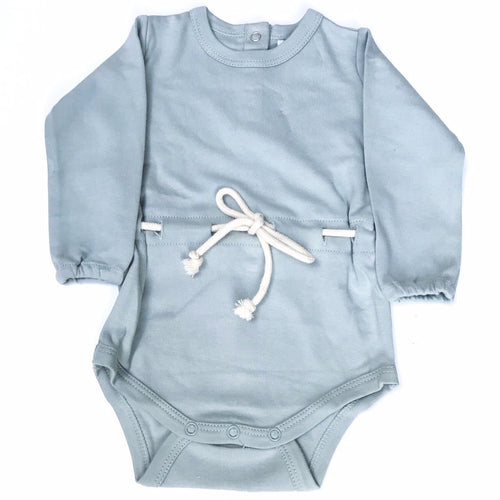 Frankie Jones The Label Valentina Rope Waist Onesie- Duck Egg Blue