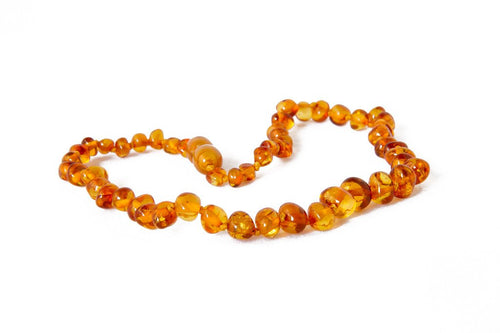 Amberrocks Childrens Amber Necklace - Cognac Baroque