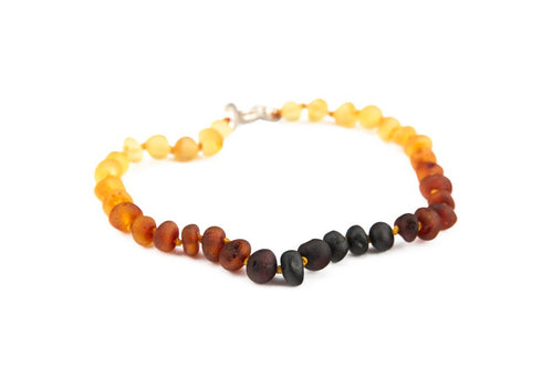 Amberocks Childrens Amber Anklet- Raw Cognac