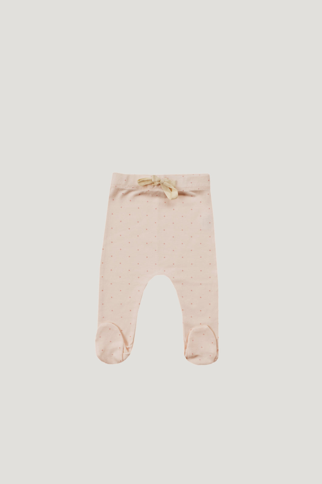 Jamie Kay Organic Cotton Footed Pants- Posy Dots