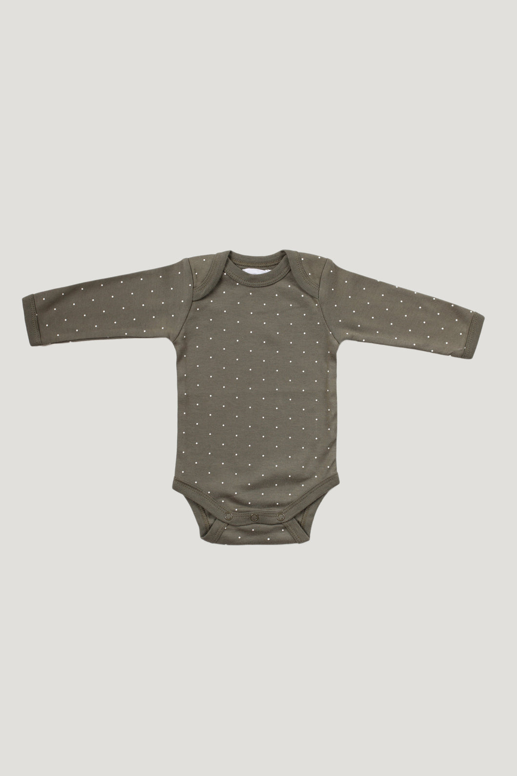 Jamie Kay Organic Cotton Bodysuit- Olive Dot