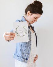 Toucan Wreath Pregnancy Milestone Cards