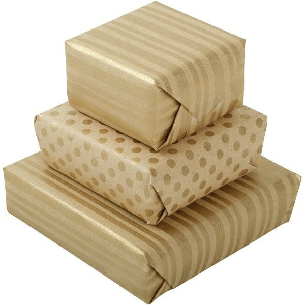 Gift Wrap - Natural Stripe