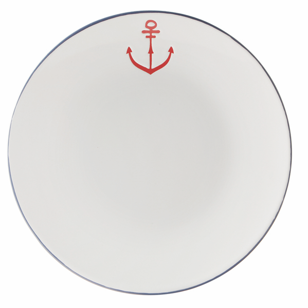 Dinner Plate with Anchor Detail