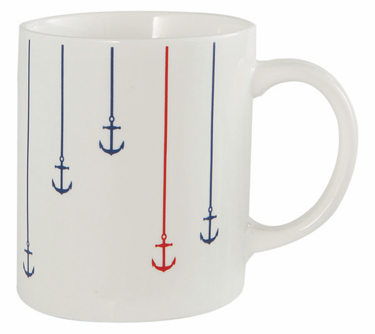 Mug with Red and Blue Anchors