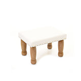 Sheepskin Footstool - Silver grey