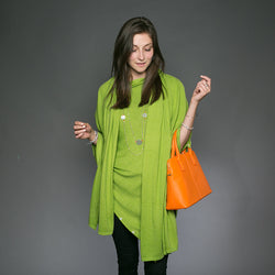 Kellie Cashmere Scarf / Wrap - Apple Green