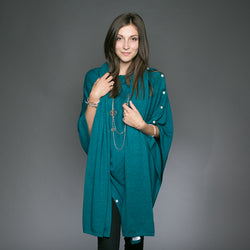 Kellie Cashmere Scarf / Wrap - Sea Green