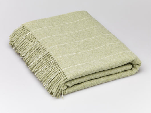 Bronte by Moon - Sage Pinstripe Throw