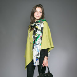 Large Silk Scarf - Flowers
