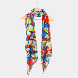 Large Silk Scarf - Abstract