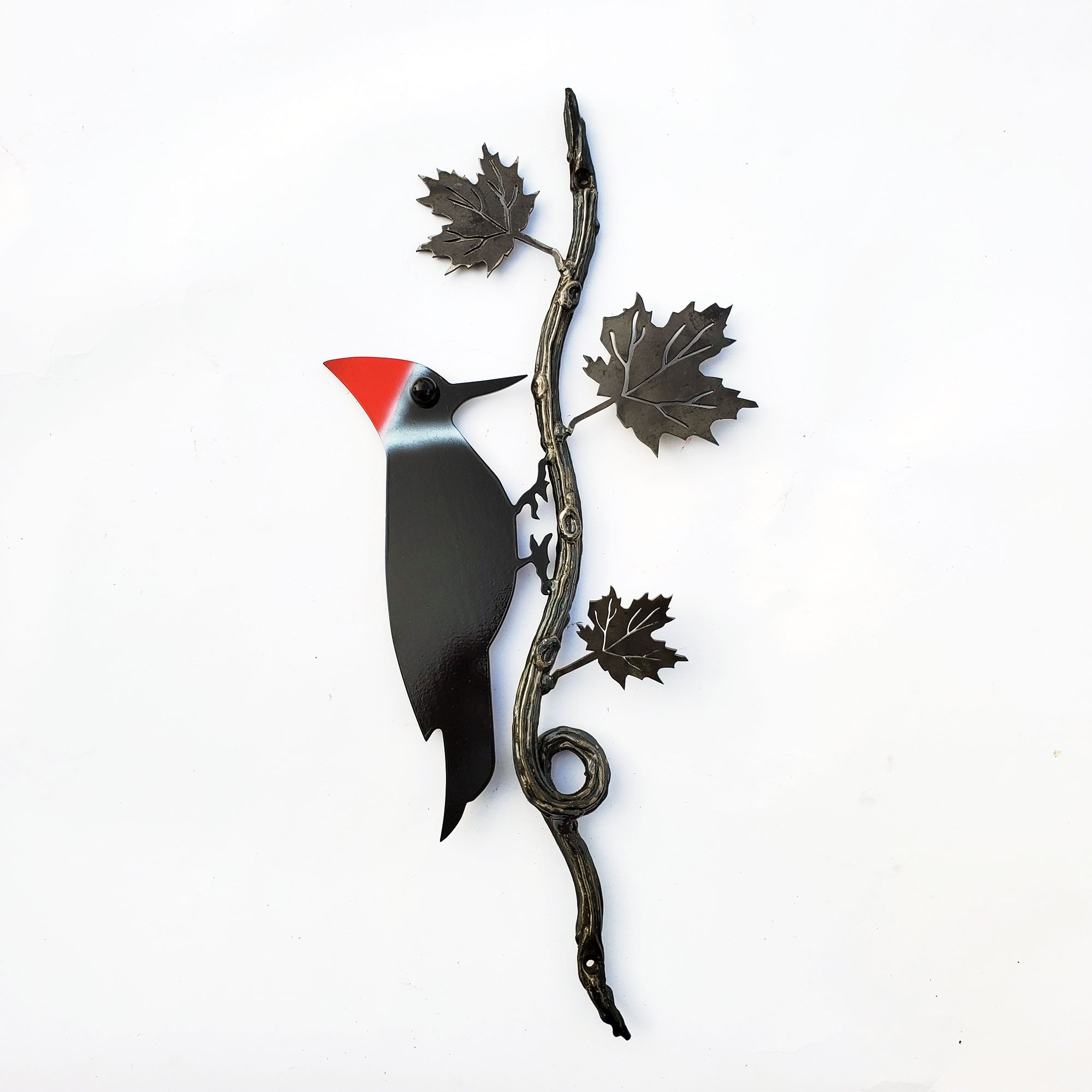 Red Crest Woodpecker Bird Garden Home Metal Wall Decor