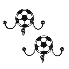 Award/Medal Holder Display for Soccer Ball Metal Wall Art Hooks