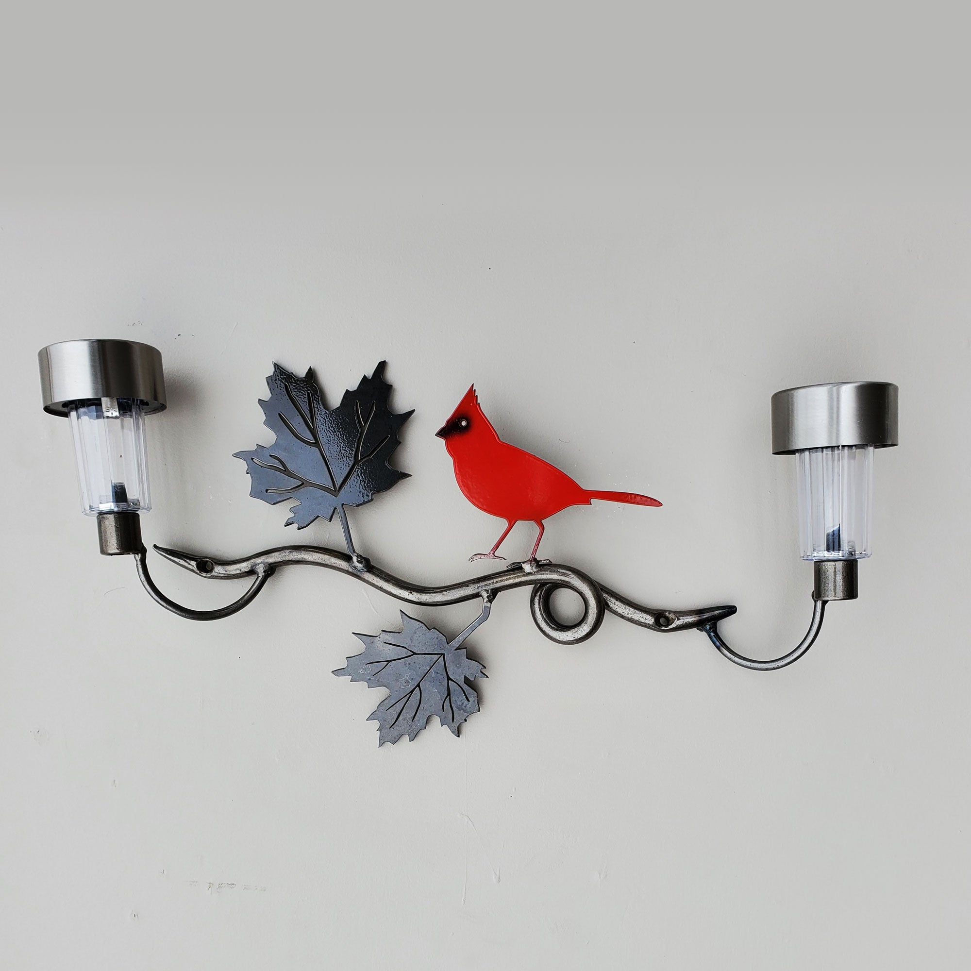 Metalbird Yard Art Small Cardinal Solar Light