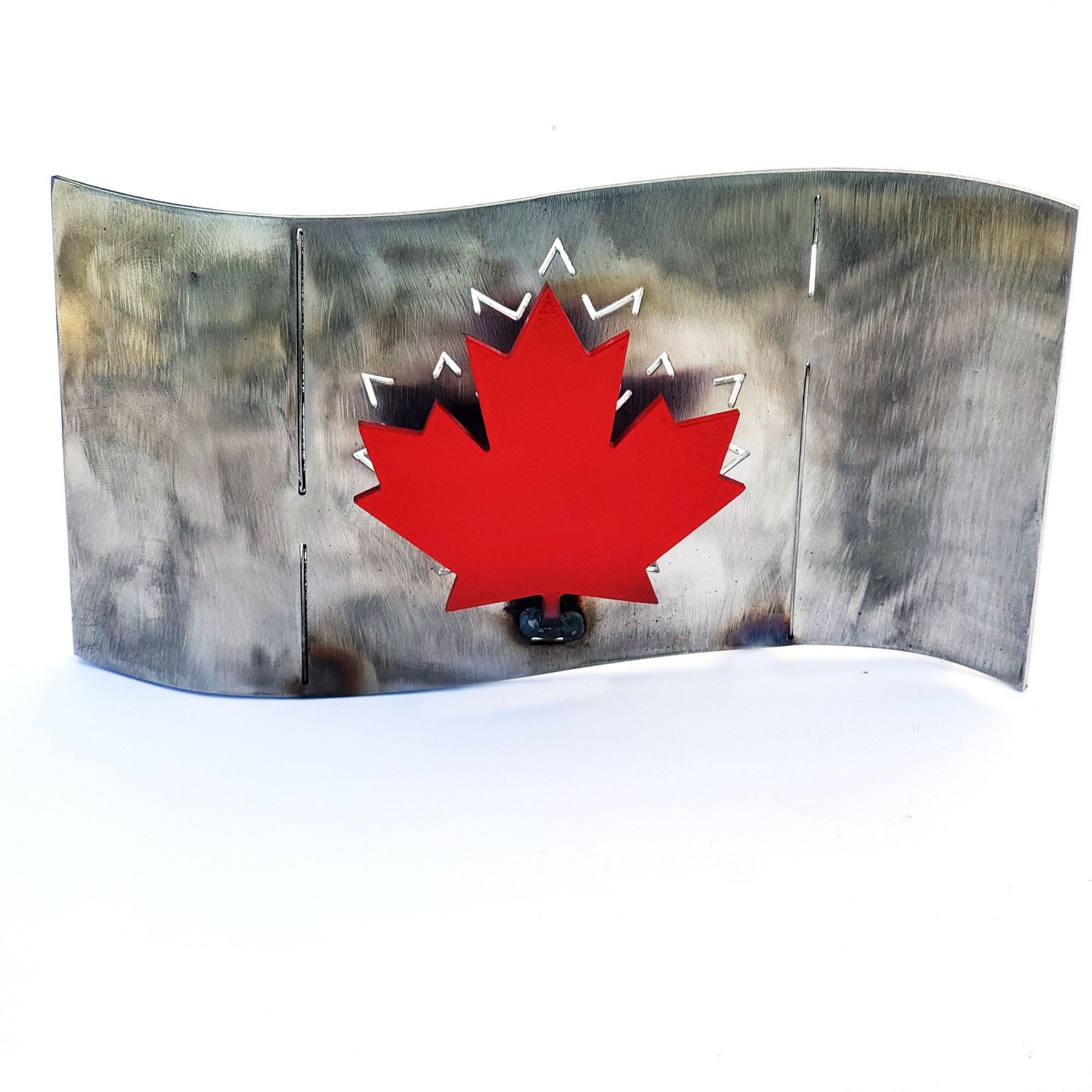 Metal Art Canadian Flag Table Mount Home Decor