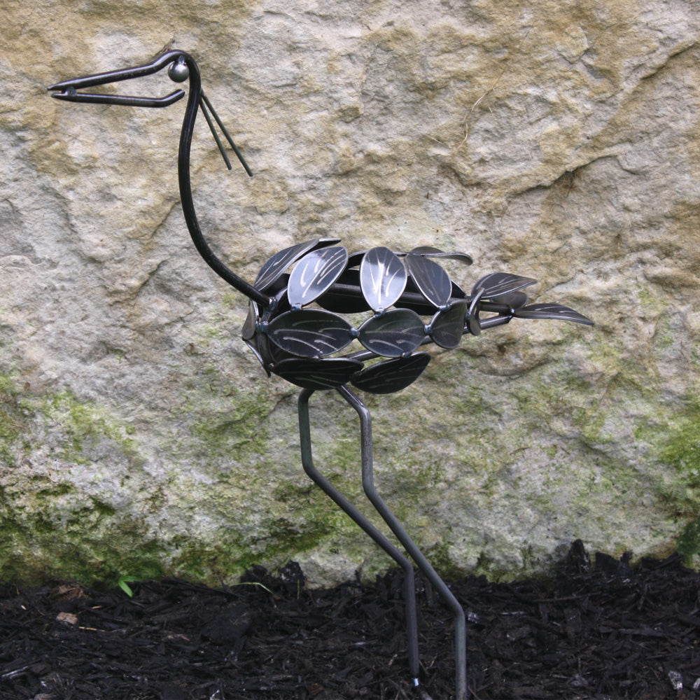 Metal Bird : Garden Sculpture Baby Bird