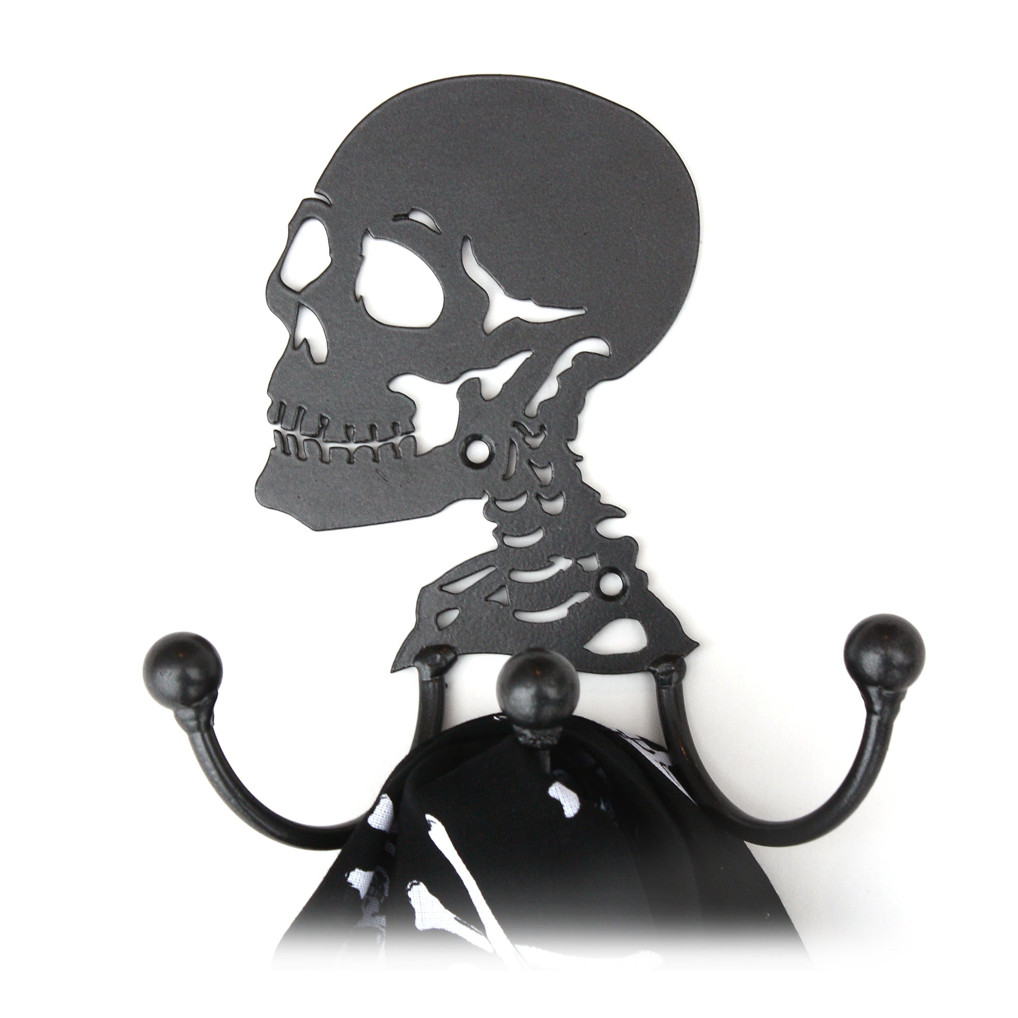Skull Hook: Wall-mounted Decorative Metal  Skull Wall Coat Hook