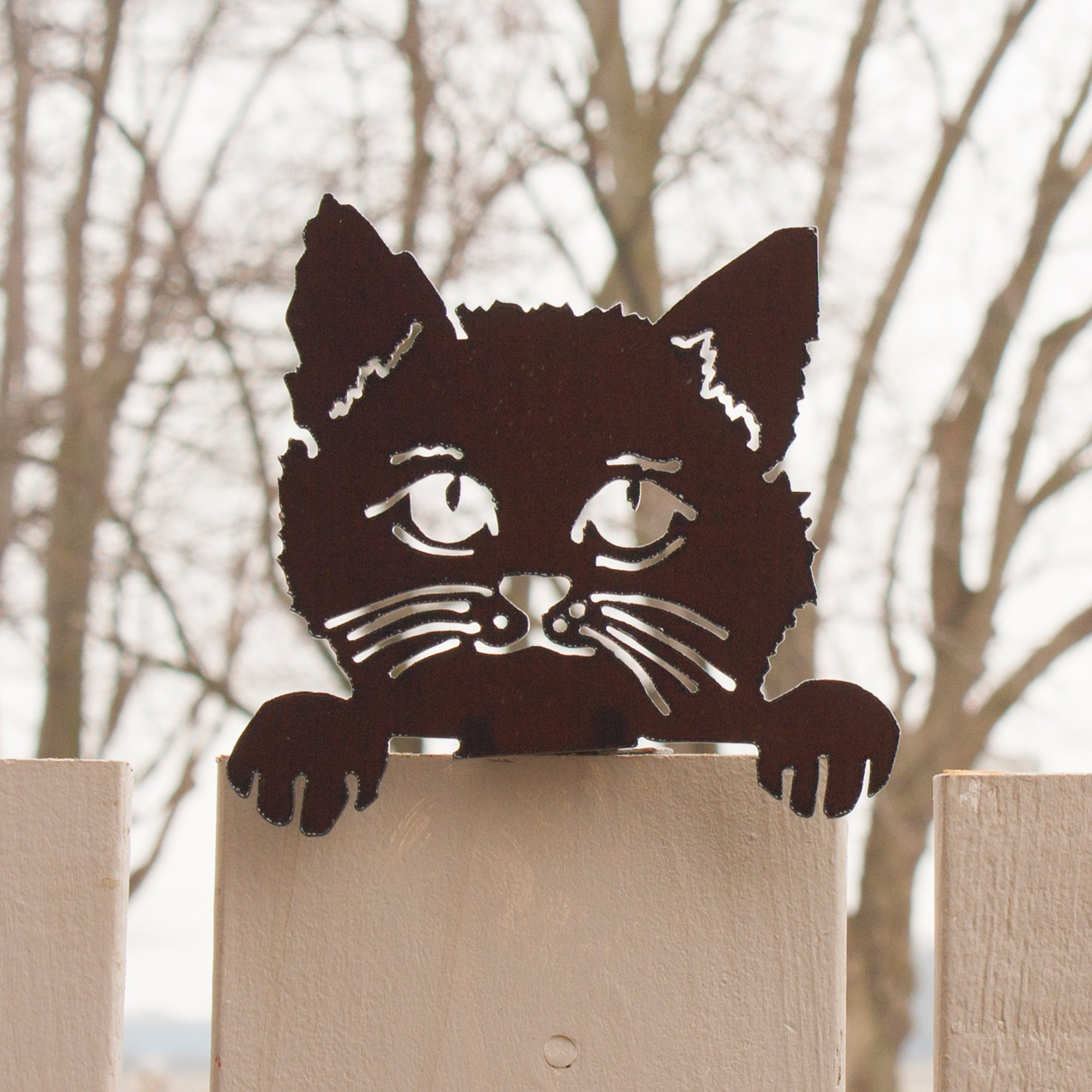 Cat with Paws – a metal pet for Garden and Fence Wall Home Décor