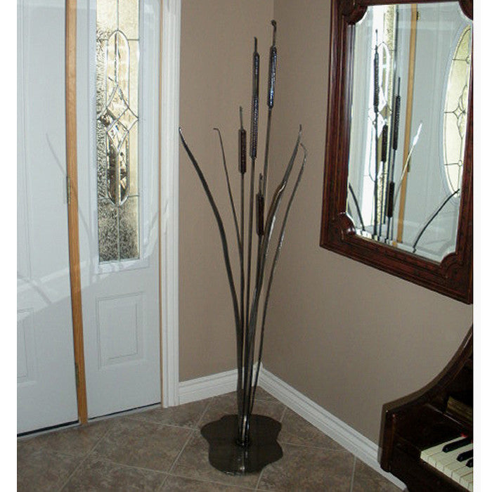 Cattail Metal Art: Metal Bullrushes For Exterior + Interior Decor