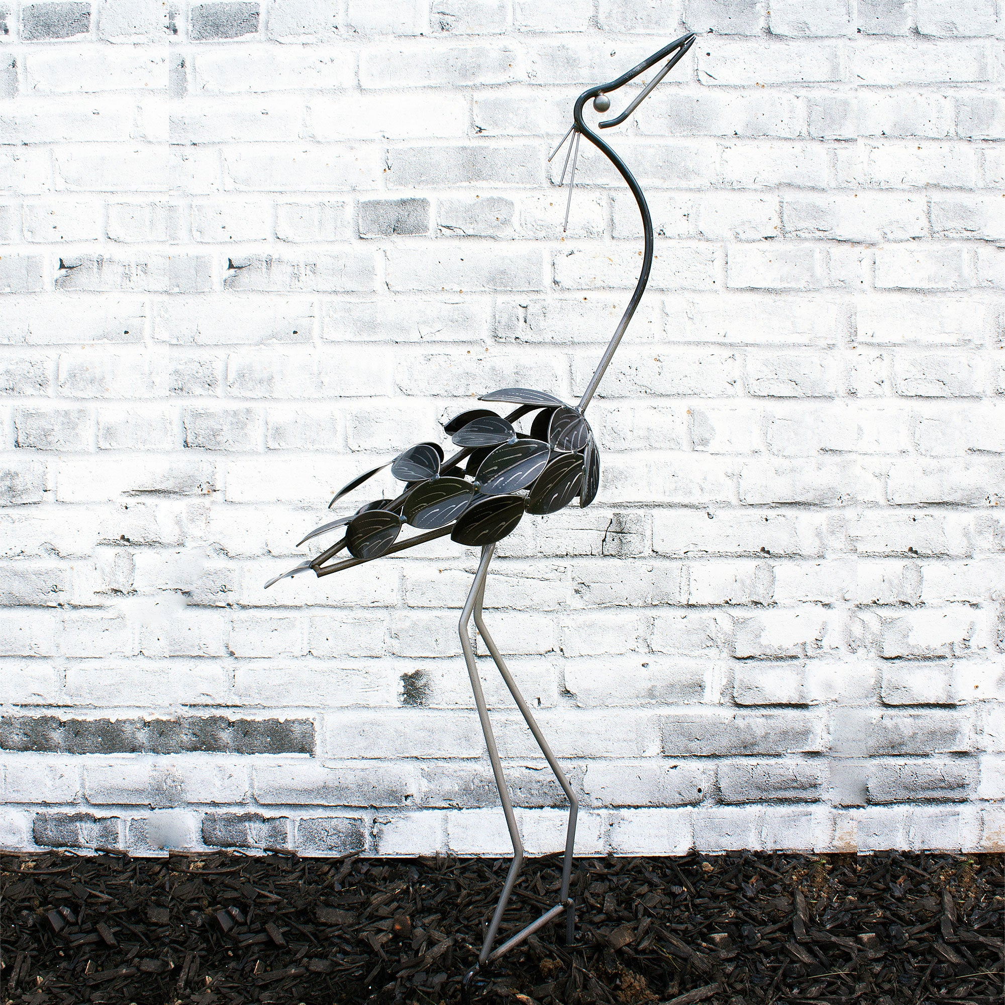 Small Bird Garden Metal Art Decor Sculpture