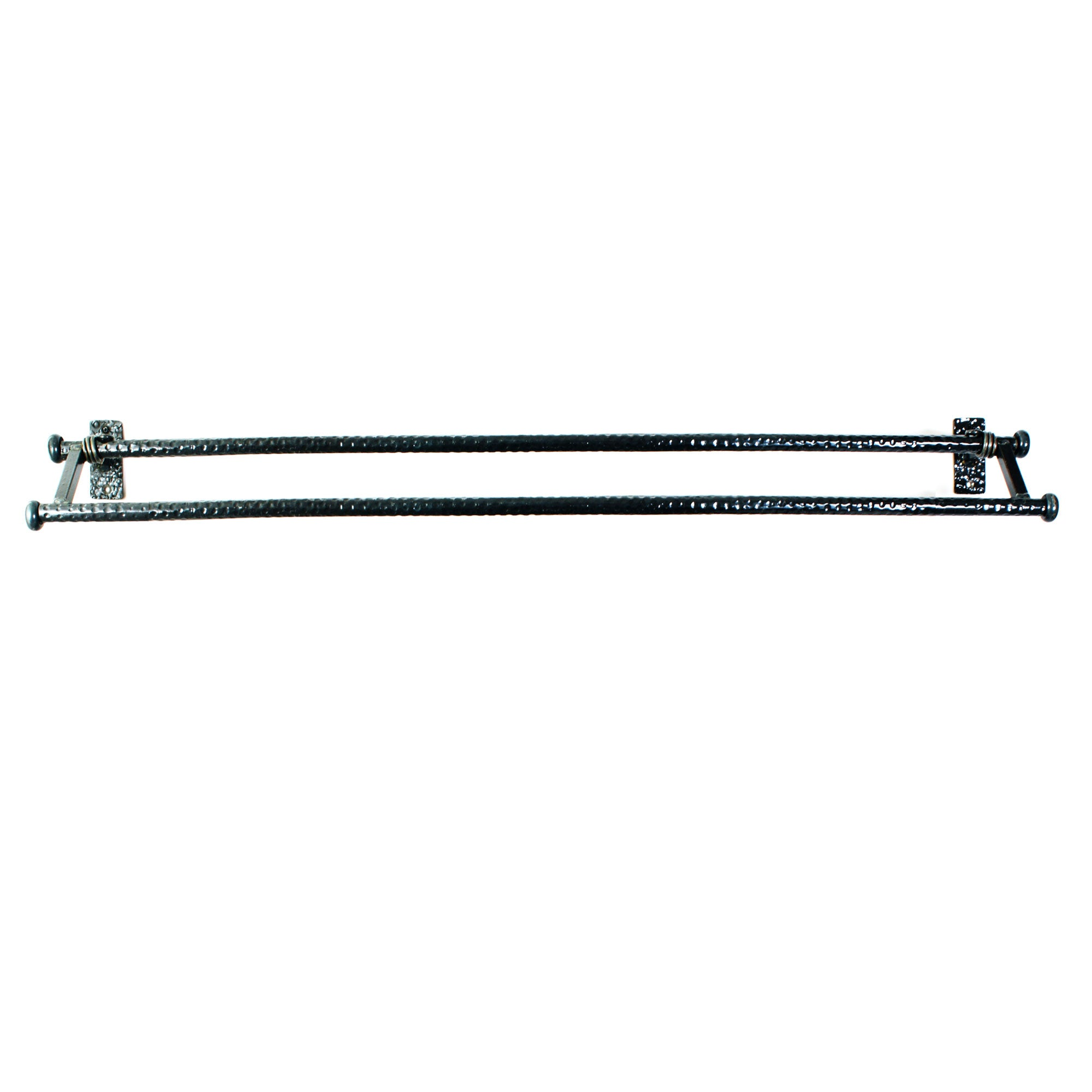 Double Towel Bar for Bathroom Walls -  Hand Forged