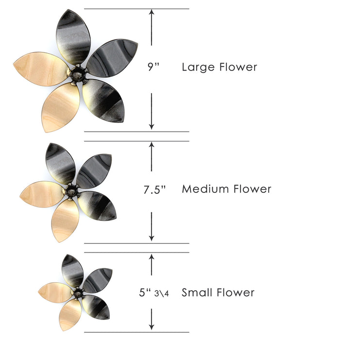 Single Metal Flower for Home Yard Wall Decor