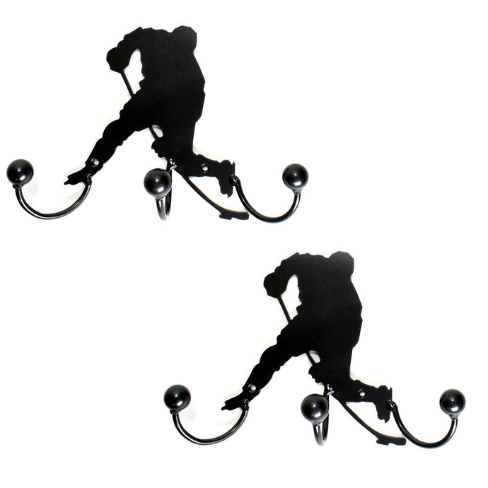 Award Display Hockey Players: Wall-mounted Metal Art (Set of Two)