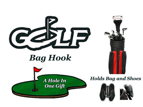 Golf Bag Hook: Metal Wall-mounted Holders For Quick Easy Storage Of Golf Bags, Shoes, Etc.