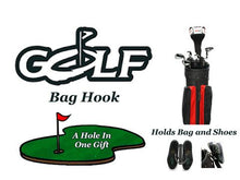 Golf Bag Hook: Wall Mounted Holders For Golfing Equipment. Golfer Gift For Golf Coach. Organiser/Organizer With Hook For Bag & Golf Shoes.