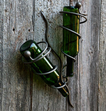 Wine Bottle Holder: Metal Wall Art Bottle Holders Within Vine