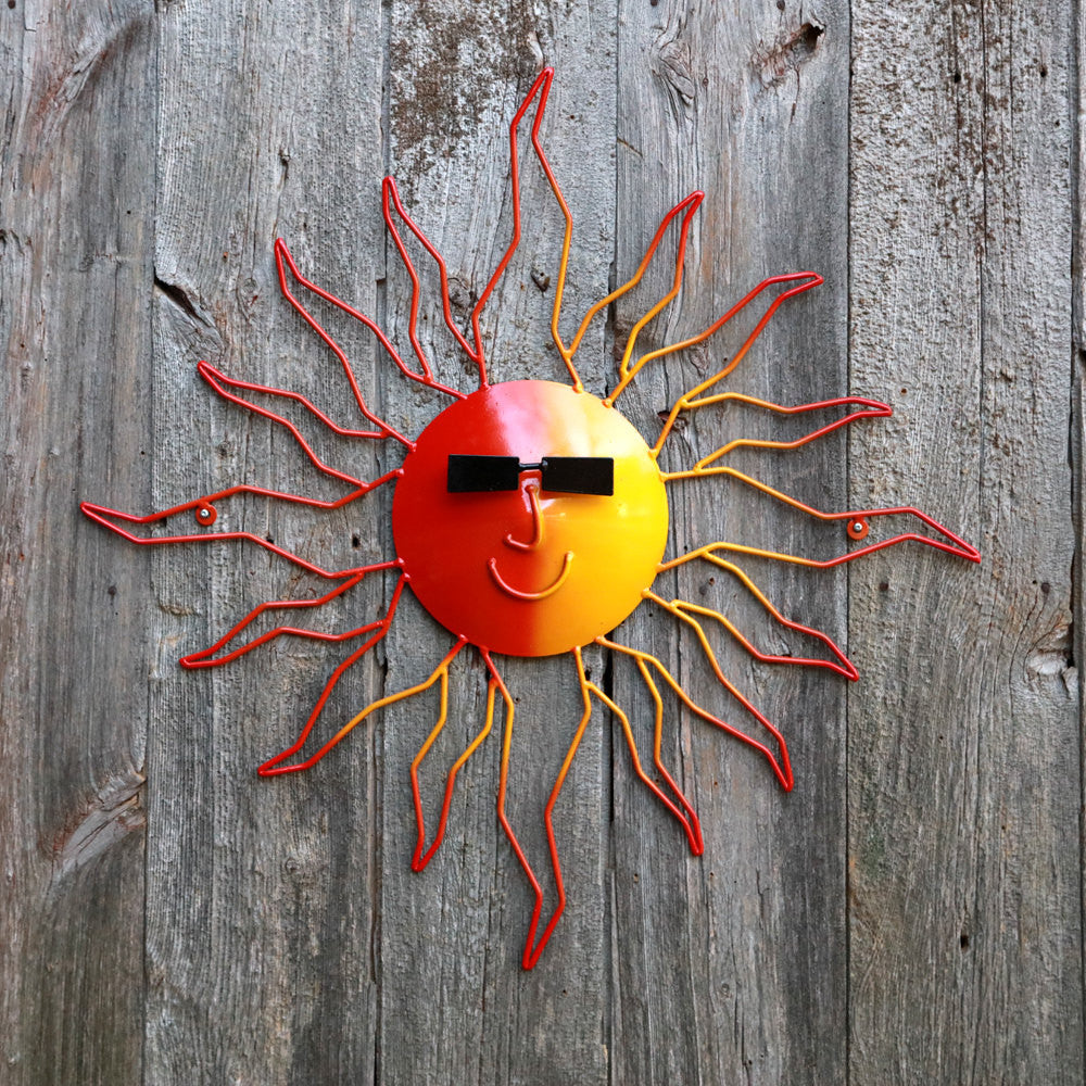 Metal Sun: Wall-mounted Metal Art Suns