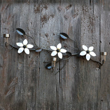 3 Flowers On A Vine: Home Decor, Linear Wall-mounted Metal Art
