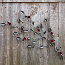 Decorative Metal Rose Vine: 4 Roses On A Vine - Wall Art For Office & Home Decor ̸ Décor