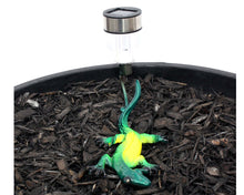 Home Decor Outdoor Decor = Yard Art! Colourful/Colorful Metal Gecko Lizard With Solar Light For Garden Decoration + Gift