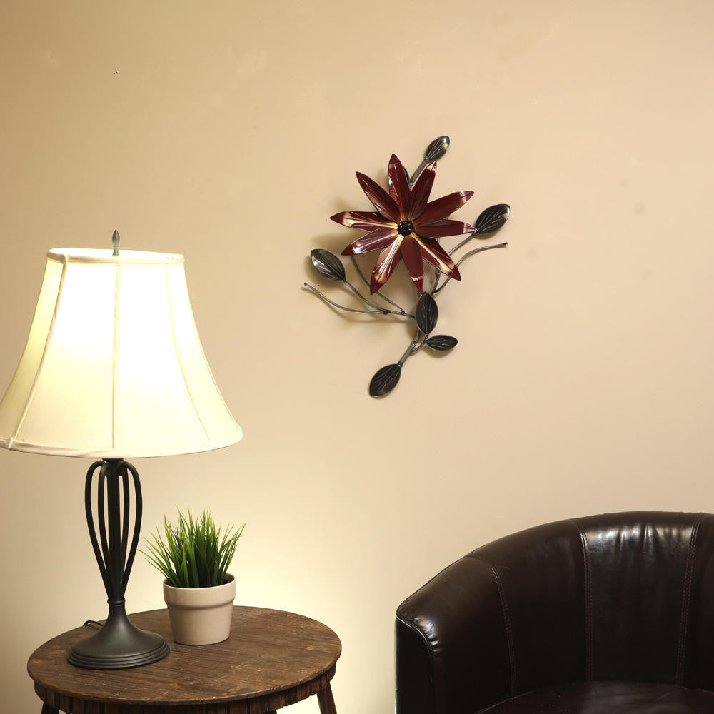 Poinsettia Flower Vine: Metal Poinsettias Wall Art Decor With Choice Of Colours / Colors