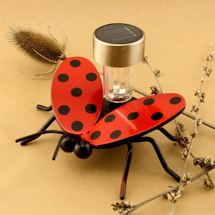 Flying Ladybug Solar Light with Garden Stake
