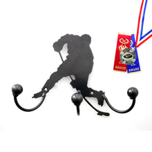 Hockey Player Award Holder: Wall Mounted Metal Art