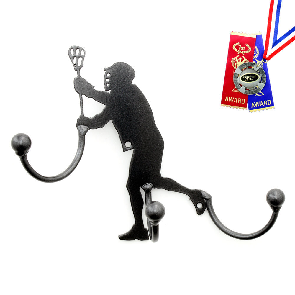 Lacrosse Award Hook Medal Display: Wall-mounted Metal Art With Hooks Award