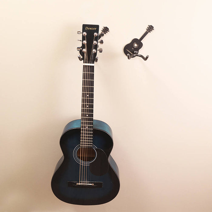 guitar holders buy a wall mounted metal art guitar holder online here practical art. Black Bedroom Furniture Sets. Home Design Ideas