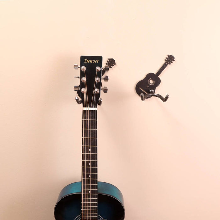 wall mounted guitar holder practical art. Black Bedroom Furniture Sets. Home Design Ideas