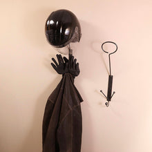 Helmet Hook Metal Wall Art: Wall-mounted Metal Helmet Holder,Ski Helmet, Motorcycle Helmet, Etc., Metal Helmet Holder Made By Practical Art!