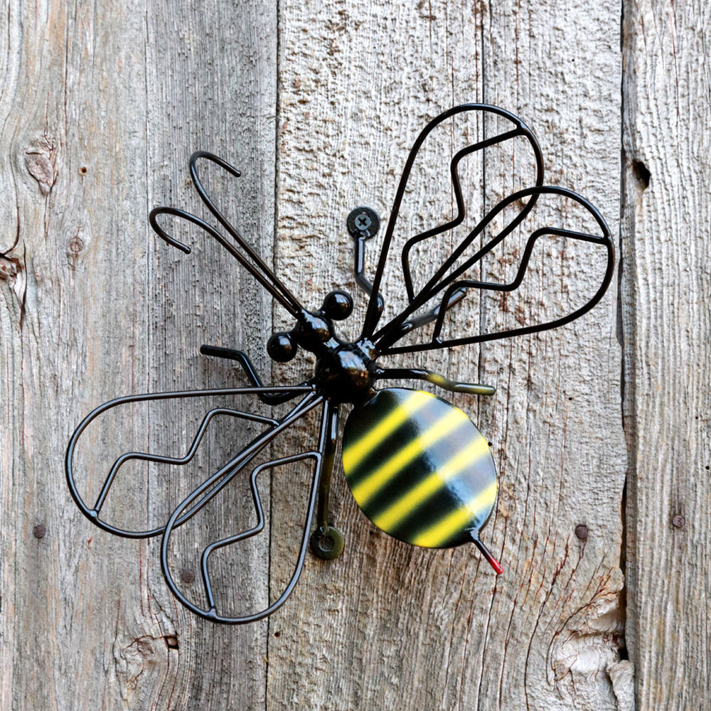 Bumblebee Metal Wall Art For Fences And Walls: Metal Art Bumblebees