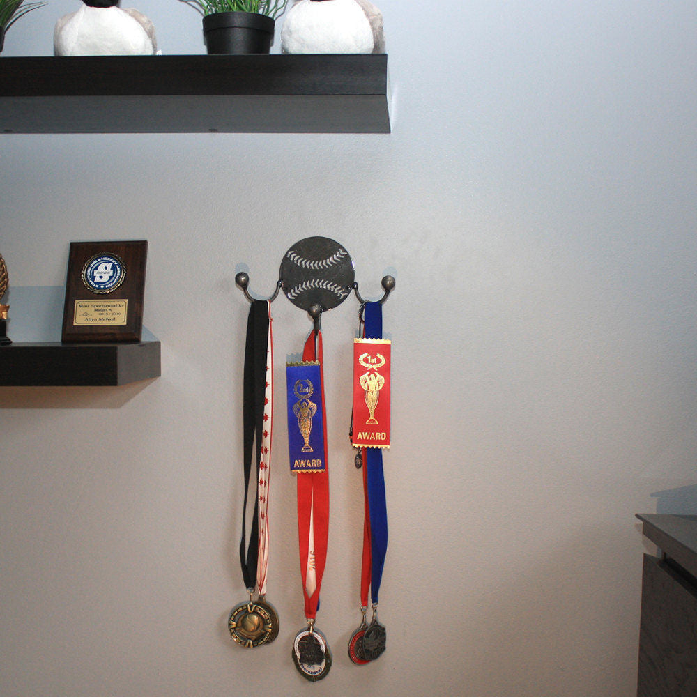 Baseball Award Hook: Wall-mounted Metal Art Baseball Awards With Hooks