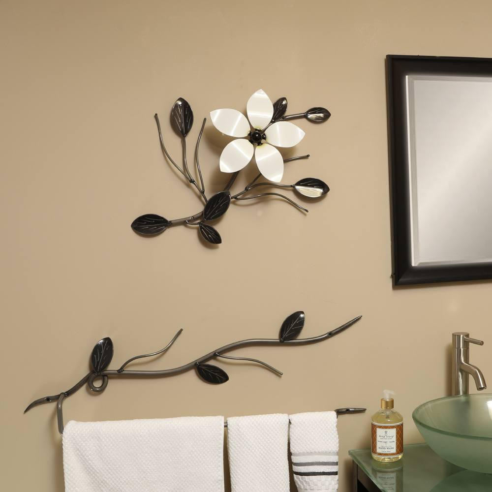 Decorative metal flower vine flower wall art for exterior interior
