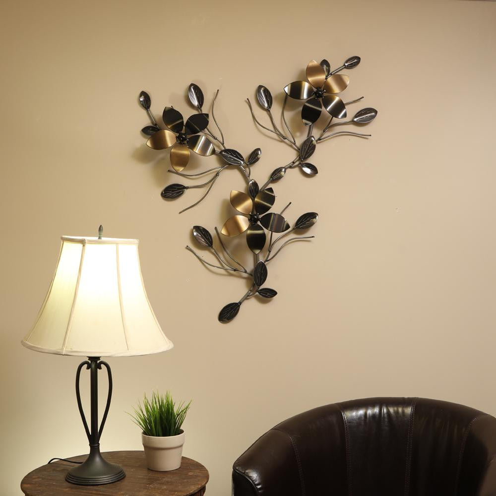 Interconnecting Metal Flower Vine: Wall Art Decor / Décor With Interchangeable Flowers